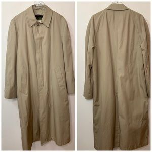 Vintage London Fog Trench Lined Overcoat Made USA